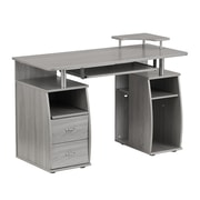 Techni Mobili Complete Computer Workstation Desk With Storage, Gray (RTA-8211-GRY)