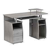 Techni Mobili Complete Computer Workstation Desk With Storage, Gray (RTA-8211-GRY)