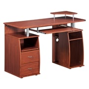 Techni Mobili Complete Computer Workstation Desk With Storage, Mahogany (RTA-8211-M615)