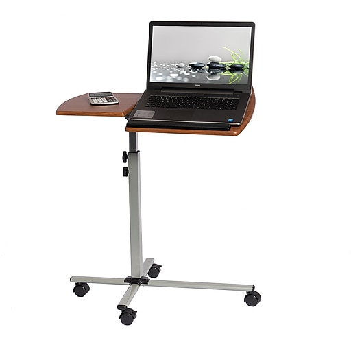 Techni Mobili Rolling Adjustable Laptop Cart, Mahogany (RTA-B003-M615)