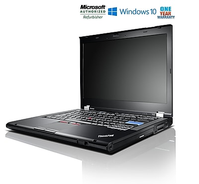"Lenovo ThinkPad T420 Laptop, Intel Core i7 2.7GHz, 8GB RAM, 320GB Hard Drive, 14"" Screen, Windows 10 Pro, Refurbished"