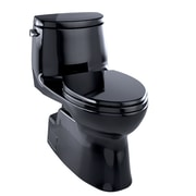Toto Carlyle II One-Piece Elongated 1.28 GPF Universal Height Skirted Toilet, Ebony Black - MS614114CEF#51