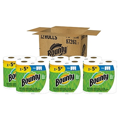 Bounty Enormous Rolls Select-A-Size 2 Ply Paper Towels, White, Pack of 12 (87261)