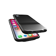 Overtime iPhone X Case with Dual Lightning Adapter Ports For Simultaneous Audio and Charging (OTPC2PIPXBK)