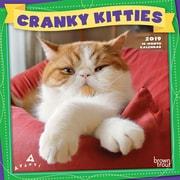 2019 BrownTrout  Avanti Cranky Kitties Monthly Mini Wall Calendar