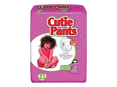 Cuties Training Pants For Girls Large 3T-4T, 92/PK (CR8008)