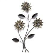 Stratton Home Decor 3 Stem Flowers Wall Decor (SHD0181)