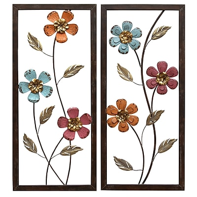 Stratton Home Decor Floral Panel Wall Décor (S02205)