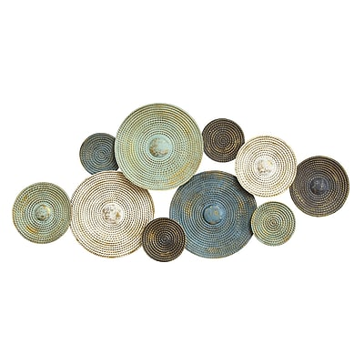 Stratton Home Decor Asheville Textured Plates Wall Décor (S07662)