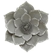 Stratton Home Decor Grey Lotus Wall Decor (S07656)