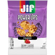Jif Power Ups Creamy Clusters, Granola with Peanut Butter Centers, Strawberry Flavored, 1.3-Ounce Bag, 5 Count Box (SMU24527)