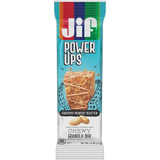Jif Power Ups Chewy Granola Bars, Creamy Peanut Butter, 1.3-Ounce Bar, 5 Count Box (SMU24440)