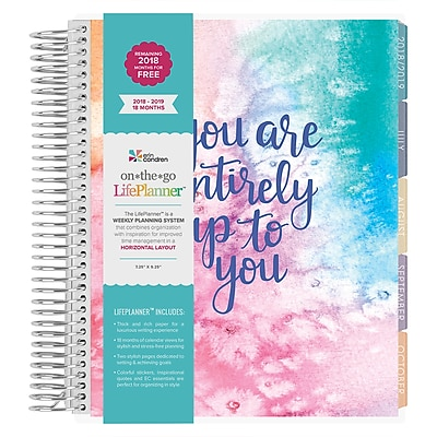 """image regarding Erin Condron identify Erin Condren 2018-2019 18 thirty day period LifePlannerâ""""¢, Up in the direction of By yourself, Horizontal design (LPHC UT 1819)"""