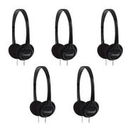 Koss On-Ear Headphones, Black, 5/Pack (190238)