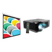 "Pyle Home HD 1080P 2,500-Lumen Projector (PRJLE33) & 100"" Projection Screen (PRJSM1006)"