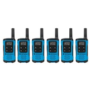 Motorola 16-Mile Talkabout T100TP 2-way Radios, Light Blue, 12/Pack