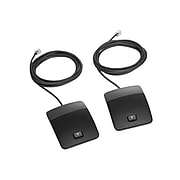 Cisco® CP-MIC-WIRED-S-RF Wired Microphone Kit, Black