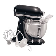 KitchenAid® Artisan® 5 Quart Tilt-Head Stand Mixer, Onyx Black, Refurbished (RRK150OB)
