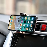 LAX Luxurious Vegan Leather Car Mount Phone Holder for Smartphones, Gold (LTHVENTMNT-GLD)