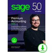 Sage 50 Premium Accounting 2019 U.S. for 4-User, Windows, Download (PPA42019ESDCSRT)
