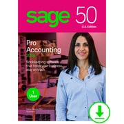 Sage 50 Pro Accounting 2019 U.S. for 1 User, Windows, Download (PRO2019ESDCSRT)