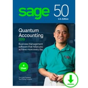 Sage 50 Quantum Accounting 2019 U.S. for 4-User, Windows, Download (PTQ42019ESDCSRT)