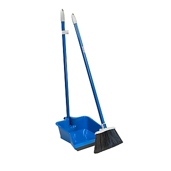 Quickie Flip-Lock Dust Pan & Lobby Broom (429ZQK)