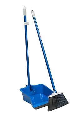 Quickie 429ZQK Flip-Lock Dust Pan & Lobby Broom