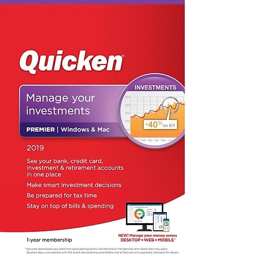 Quicken Premier 2019 for 1 User, Windows/Mac, Download (0170238)