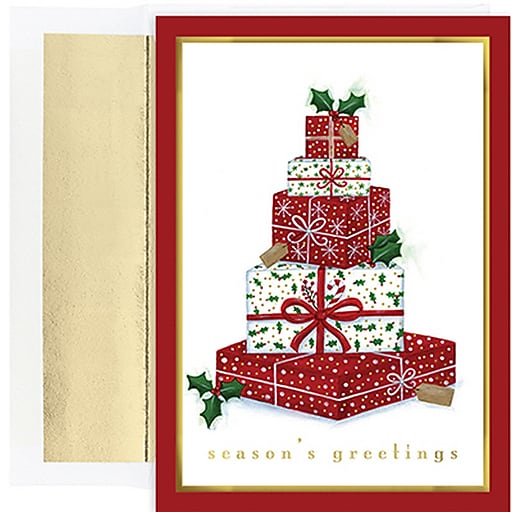 Shop Staples For JAM Paper® Blank Christmas Cards Set With