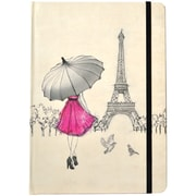 JAM Paper® Journal with Eiffel Tower Design, 5 3/4 x 8 1/4, 160 Lined Pages (377234314)