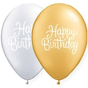 JAM Paper® Party Balloons, Silver & Gold, Birthday Mix, 36/Pack (377834399A)