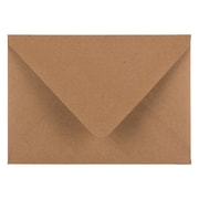 "JAM Paper® A7 V-Flap Premium Invitation Envelopes, 5.25"" x 7.25"", Brown Kraft Paper Bag, 25/Pack (63134665)"