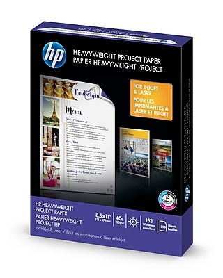 """HP Heavyweight Project Paper, 8.5"""" x 11"""", 250 Sheets (Z4R14A)"""