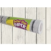 Teacher Created Resources Better Than Paper®Roll, 4' x 12', White Wood (TCR77366)