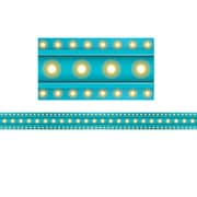 "Teacher Created Resource (TCR77341) 16.125"" x 1.375"", Clingy Thingies® Light Blue Marquee Straight Borders, Multicolor"