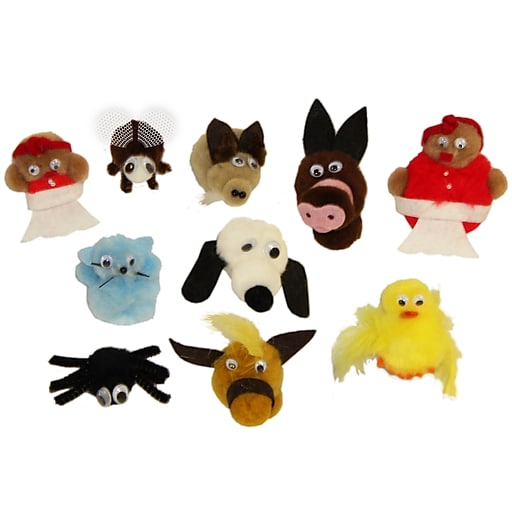 """Melody House """"Old Lady Who Swallowed A Fly"""" Finger Puppet Set (WZ-503)"""