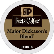 Keurig Peet's Coffee Major Dickason's Blend Keurig Single-Serve K-Cup Pods, Dark Roast Coffee, 40 Count (373354)