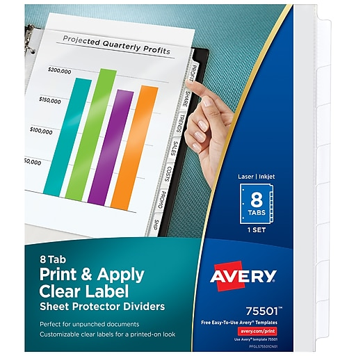 Shop Staples For Avery® Index Maker® Clear Pocket Clear