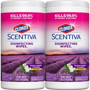 Clorox® Scentiva™ Disinfecting Wipes, Tuscan Lavender and Jasmine, 2/Pk (32014)