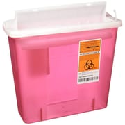 Medline Biohazard Patient Room Sharps Containers, 5 qt, 20/Pack