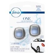 Febreze One Car Air Freshener Vent Clip, Aqua, 2 count (74593)