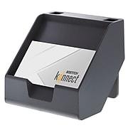 "Bostitch Konnect™ Plastic Sticky Note & Card Holder, Includes Sticky Notes, 3.9"" W, Gray (KT-CARD-GRAY)"