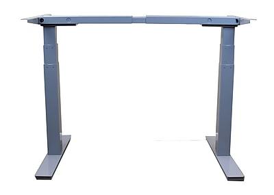 Uncaged Ergonomics Rise Up Electric Adjustable Height Desk Frame Gray (Rug)