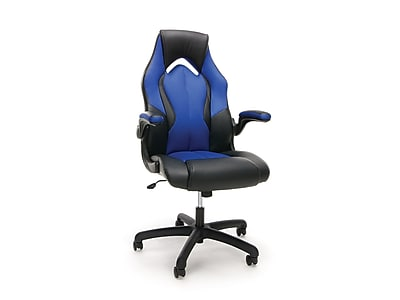 OFM Essentials High-Back Faux Leather Racing Gaming Chair, Blue (845123090633)