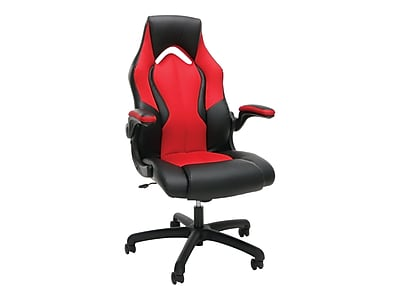 OFM Essentials High-Back Faux Leather Racing Gaming Chair, Red (845123090640)