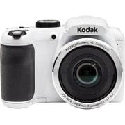 Kodak PIXPRO AZ252 Digital Camera, 16 Megapixels, 25x Optical Zoom, 24mm Wide, 720p Full HD Video, White