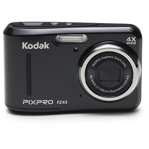 Kodak PIXPRO FZ43 Digital Camera, 16 Megapixels, 4x Optical Zoom, Black