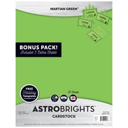 "Astrobrights Colored Cardstock Holiday Edition, 8.5"" x 11"", 65 lb/176 gsm, Martian Green, 55 Sheets (91403)"