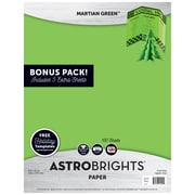 "Astrobrights Holiday Edition Color Paper, 24 lb/89 gsm, 8.5"" x 11"", Martian Green, 130 Sheets (91402)"